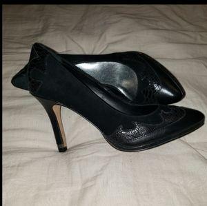Black Reba pump heels